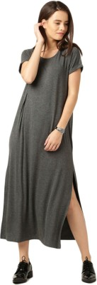 ether Women's A-line Grey Dress at flipkart