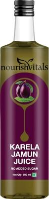 NourishVitals Karela Jamun Juice - No Added Sugar Sports Drink(500 ml Pack of 1)