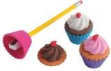 US Toy Cupcake Eraser/Sharpeners/6-Pc