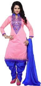 Merito Cotton Self Design, Embroidered Suit Fabric, Semi-stitched Salwar Suit Dupatta Material, Dress/Top Material, Kurta & Patiyala Material