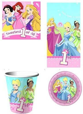 Disney Sweetest of All Princess Party Pack - Plastic(Multicolor)