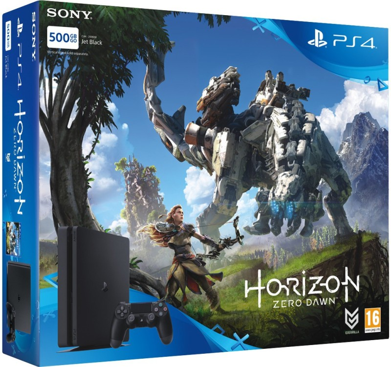 Sony PlayStation 4 (PS4) Slim 500 GB with Horizon Zero Dawn(Jet Black)