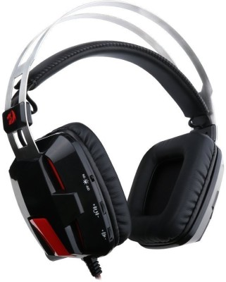 Shrih Universal USB Gaming Wired Headset With Mic(Black, Red)