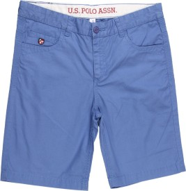 Us Polo Kids Short For Boys Casual Solid Cotton