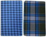 Shopping Store Checkered Blue, Brown Lun...