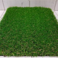 Verona PVC Door Mat Artificial grass green door rug (2*3 Feet)(Green, Medium)
