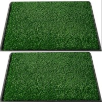 Grassyoga Polypropylene Door Mat Artificial (natural look) grass green soft and durable door rug (1.5*3 Feet)(Green, Free)