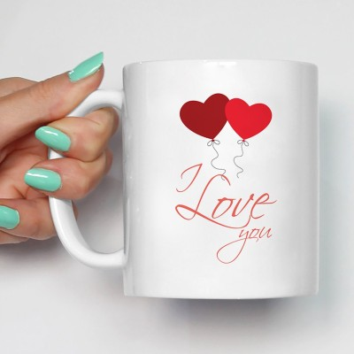 100YELLOW Coffees - I Love You Printed Ceramic Mug(350 ml)