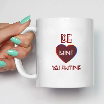 100YELLOW Coffees - Happy Valentines Day Printed Ceramic Mug(350 ml)