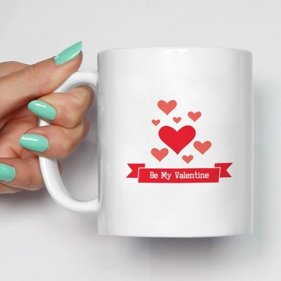 100YELLOW Coffees - Be My Valentine Printed Ceramic Mug(350 ml)