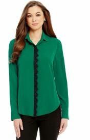 Shaper Girls Solid Casual Green Shirt