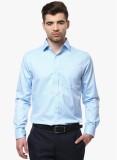 COBB Men's Solid Formal Blue Shirt