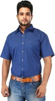 Relish Formal Shirts (Men's) - Relish Men's Solid Formal Dark Blue Shirt