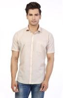 Be Online Formal Shirts (Men's) - Be Online Men's Solid Formal Beige Shirt
