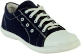 Shoe Island Trending Navy Blue Canvas Ca...