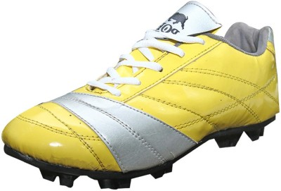 Port Cresenty Football Shoes(Yellow, Grey)
