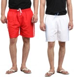 X-Cross Solid Men's Red, White Sports Sh...