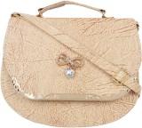 Ayeshu Women Beige PU Sling Bag