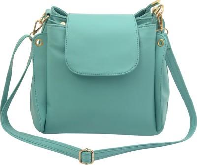 Deniza Women Green Leatherette Sling Bag