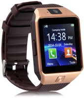 ANIMATE DZ09 Bluetooth with Built-in Sim card and memory card slot Compatible with All Android Mobiles Brown Smartwatch(Brown Strap Regular)