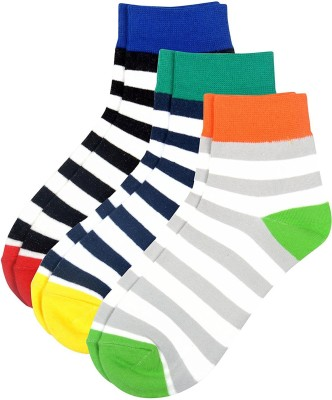 Color Fevrr Mens Striped Low Cut Socks
