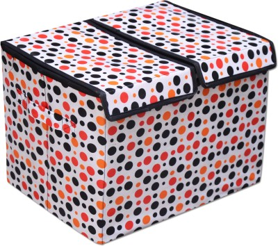 Achintya STBXDBLE-WhiteDots Storage Box(Multicolor)