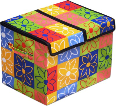 Achintya STBXDBLE-Flower Storage Box(Multicolor)