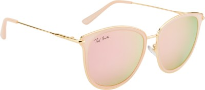 Ted Smith TS-7981/S_C47 Cat-eye Sunglasses(Green, Pink)