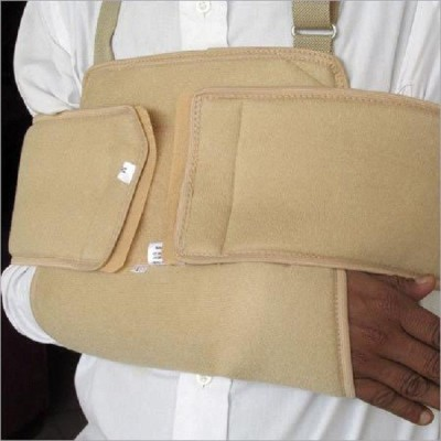 Physio Aid Shoulder Immobilizer Delux Shoulder Support (Free Size, Beige)