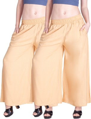 Lux Lyra Regular Fit Womens Gold Trousers