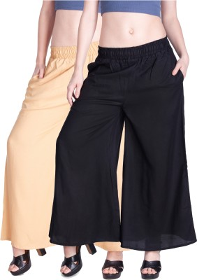 Lux Lyra Regular Fit Womens Gold, Black Trousers