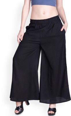 Lux Lyra Regular Fit Womens Black Trousers