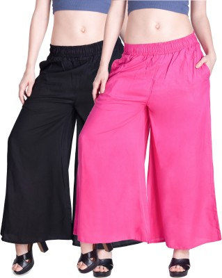 Lux Lyra Regular Fit Womens Black, Pink Trousers