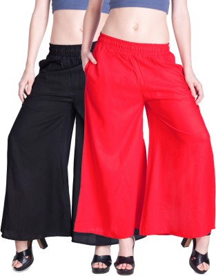 Lux Lyra Regular Fit Womens Black, Red Trousers