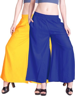 Lux Lyra Regular Fit Womens Yellow, Blue Trousers