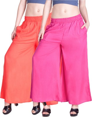 Lux Lyra Regular Fit Womens Pink Trousers