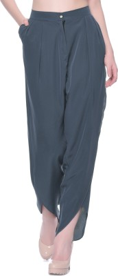 UptownieLite Regular Fit Women's Grey Trousers at flipkart