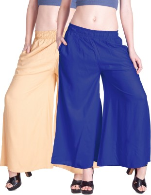 Lux Lyra Regular Fit Womens Gold, Blue Trousers