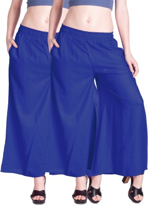 Lux Lyra Regular Fit Womens Blue Trousers