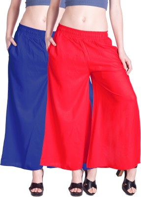 Lux Lyra Regular Fit Womens Blue, Red Trousers