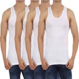 WellFitLook Men's Vest (Pack of 4)
