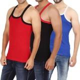 WellFitLook Men's Vest (Pack of 3)