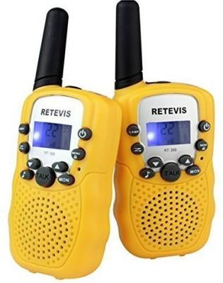 Retevis Kids Walkie Talkie UHF 462.5625-467.7250MHz 22CH LCD Display Flashlight VOX Toy 2 Way Radio For Children RT-388 Walkie Talkie(Yellow)