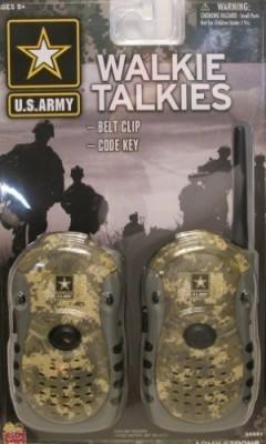 Kidz Toys U.S. Army Walkie Talkies with Belt Clip 567467 Walkie Talkie(Multicolor)