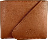 MS Men Tan Genuine Leather Wallet (3 Car...