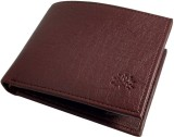 MS Men Brown Genuine Leather Wallet (8 C...