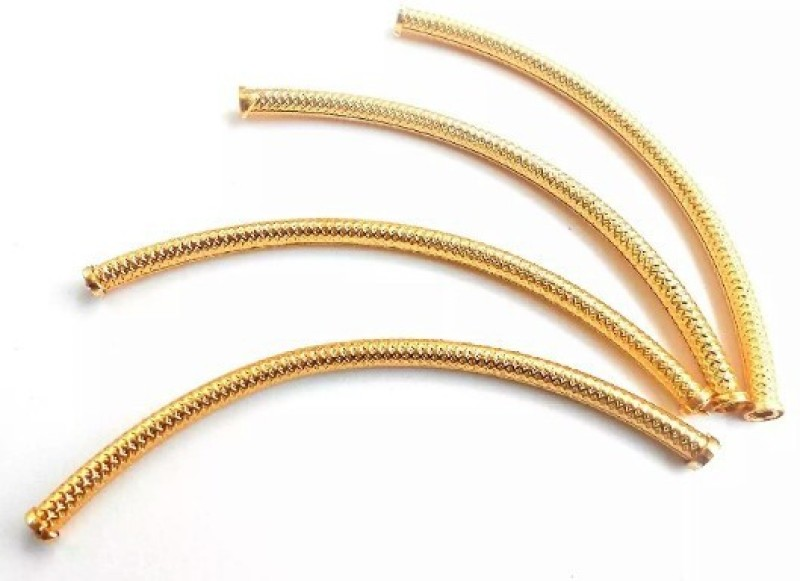 BestUBuy Bend pipe tubes/ hollow necklace pipe gold for jewelery making, size 10 cm