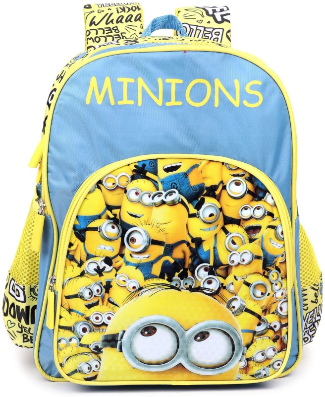 Minion School Bag School Bag(Blue, Yellow, 16 inch)