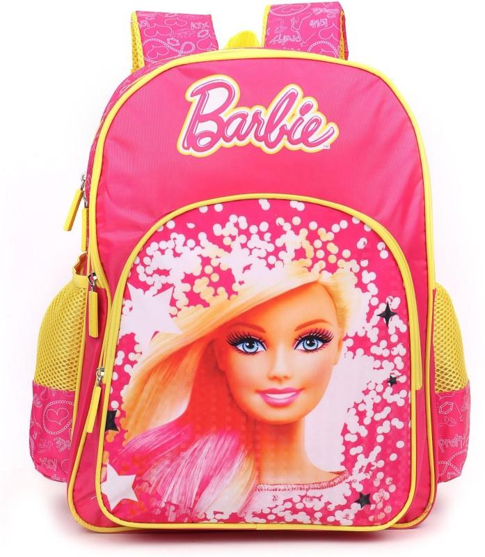 Barbie School Bag School Bag(Pink, Yellow, 18 inch)