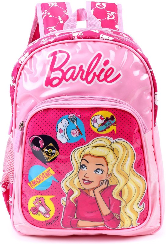 Barbie School Bag School Bag(Pink, 16 inch)